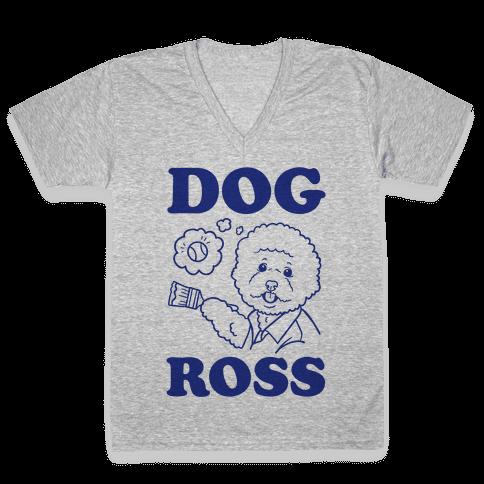 Dog Ross  V-Neck Tee Shirt