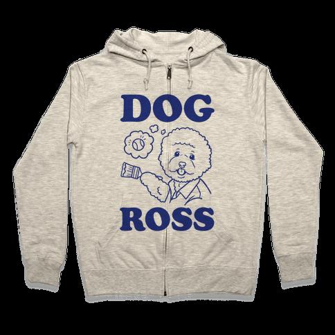 Bob Ross Parody Hooded Sweatshirts Lookhuman