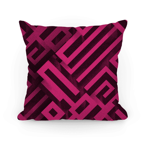 Bismuth Maze Pillow