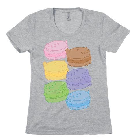 Cat Macarons Womens T-Shirt