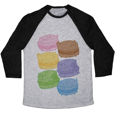 Cat Macarons Baseball Tee