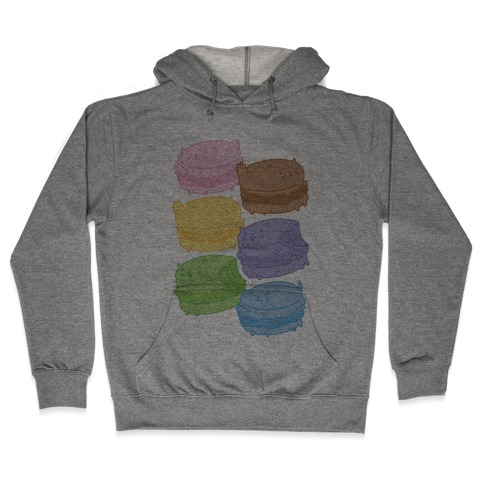 Cat Macarons Hooded Sweatshirt