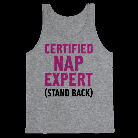 Certified Nap Expert Tank Top