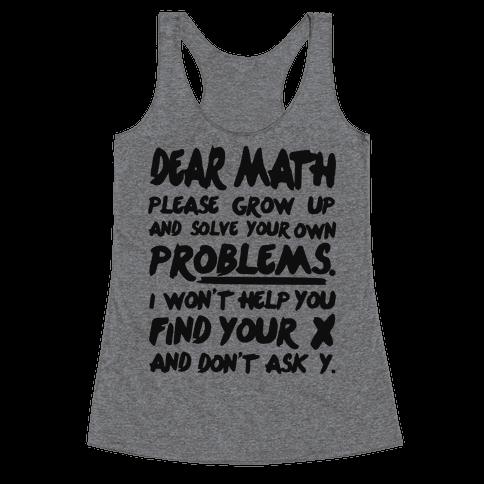 Dear Math Racerback Tank Top