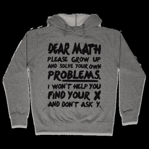 Dear Math Hooded Sweatshirt