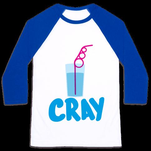 Cray-Z Straws Baseball Tee