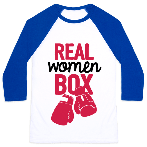 Real Women Box Baseball Tee