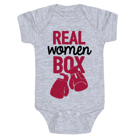 Real Women Box Baby Onesy