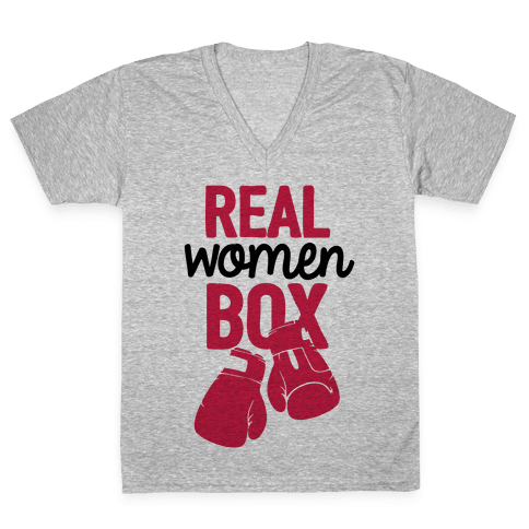 Real Women Box V-Neck Tee Shirt