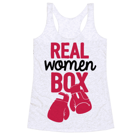 Real Women Box Racerback Tank Top