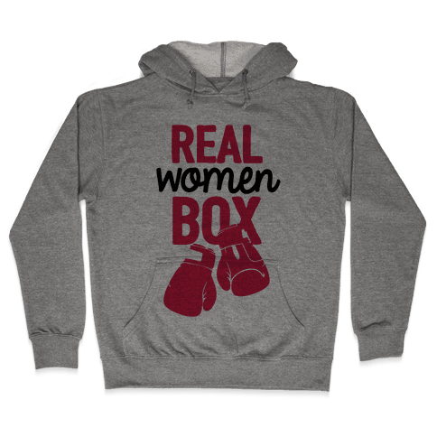 Real Women Box Hooded Sweatshirt