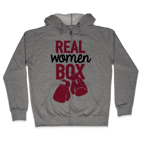 Real Women Box Zip Hoodie