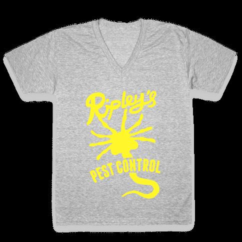 Ripley's Pest Control V-Neck Tee Shirt