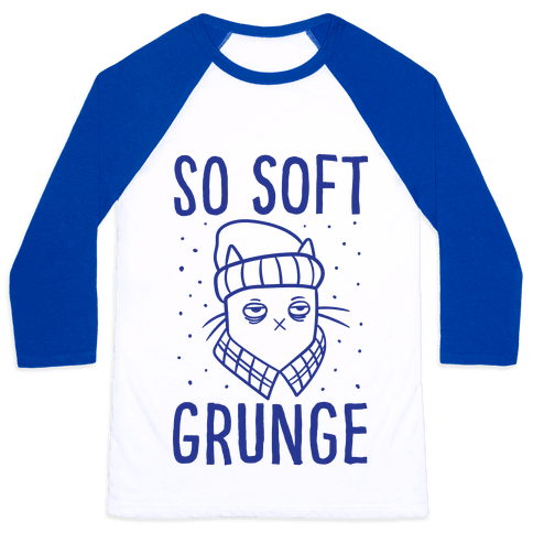Soft Grunge Cat Baseball Tee