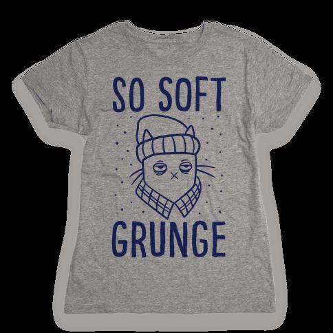 Soft Grunge Cat Womens T-Shirt