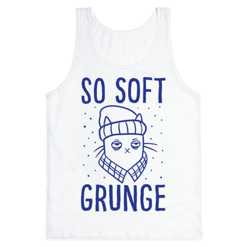 Soft Grunge Cat Tank Top