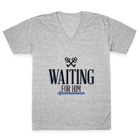 Waiting for Him V-Neck Tee Shirt