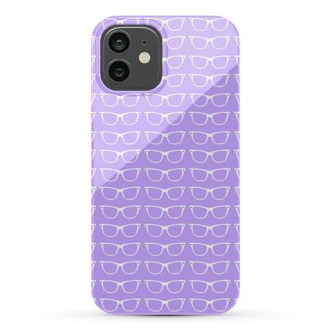 Purple Glasses Pattern Phone Case