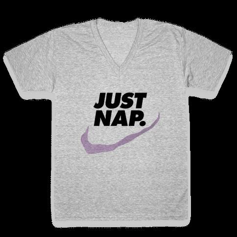 Just Nap V-Neck Tee Shirt