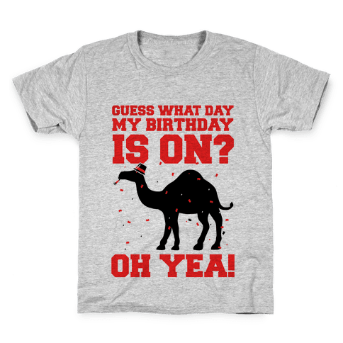 Guess What Day My Birthday is On? Kids T-Shirt