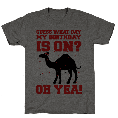 Guess What Day My Birthday is On? Mens T-Shirt