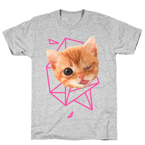 Miley Cat Head Mens T-Shirt