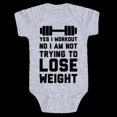 Yes I Workout Baby Onesy