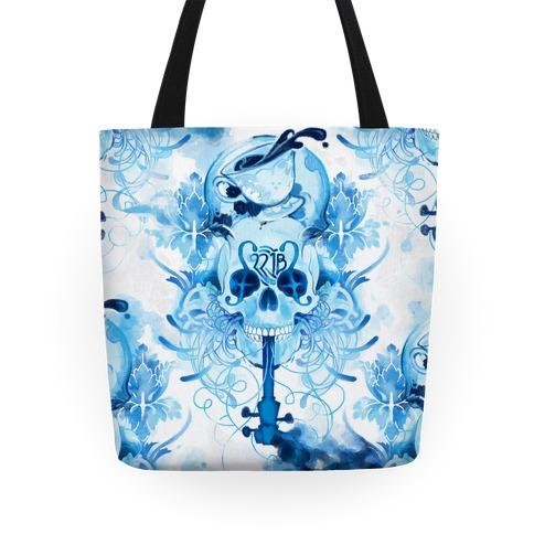 221B Sherlock Skull Watercolor Tote Tote
