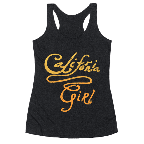California Girl (Golden Vintage) Racerback Tank Top
