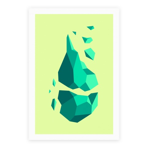 Broken Quartz Mountain Poster