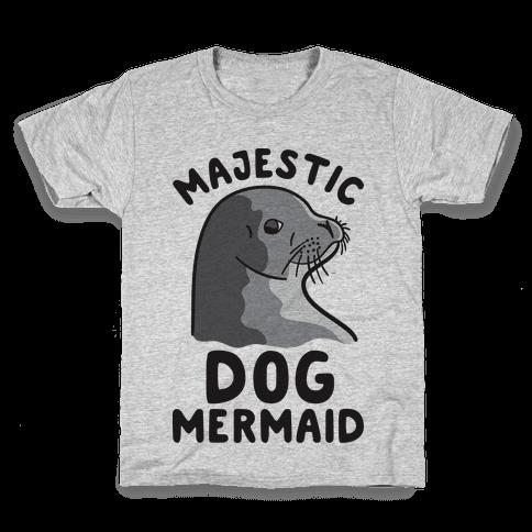 Majestic Dog Mermaid Kids T-Shirt