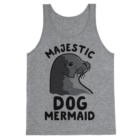 Majestic Dog Mermaid Tank Top