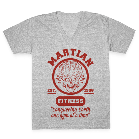 Martian Fitness V-Neck Tee Shirt