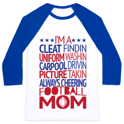 Football Mom Baseball Tee