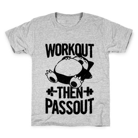 Workout then Passout (Snorlax) Kids T-Shirt