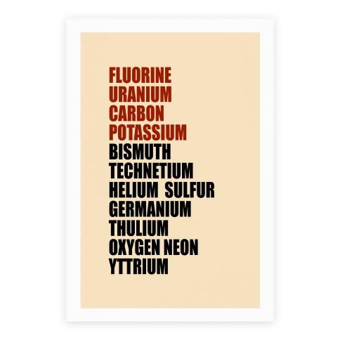Chemistry Rap Tribute Poster