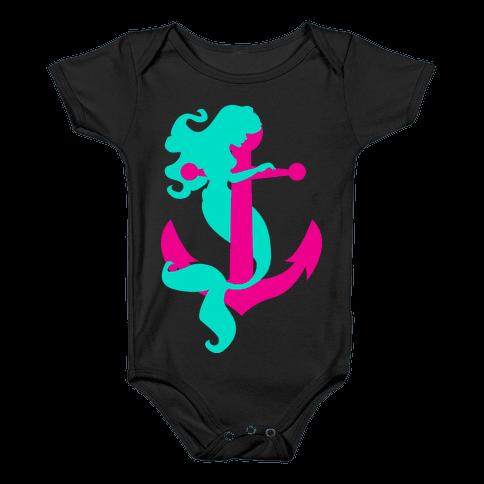 Mermaid Anchor Baby Onesy