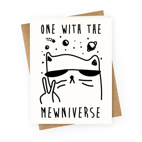 One With The Mewniverse Greeting Card