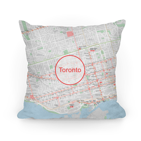 Toronto Transit Map Pillow
