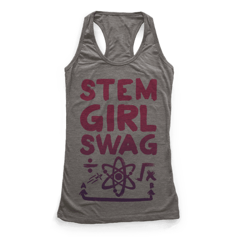 STEM Girl Swag Racerback Tank Top