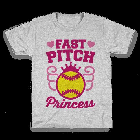 Fast Pitch Princess Kids T-Shirt