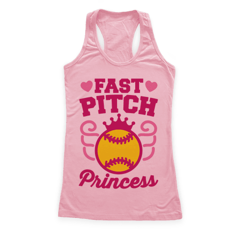 Fast Pitch Princess Racerback Tank Top