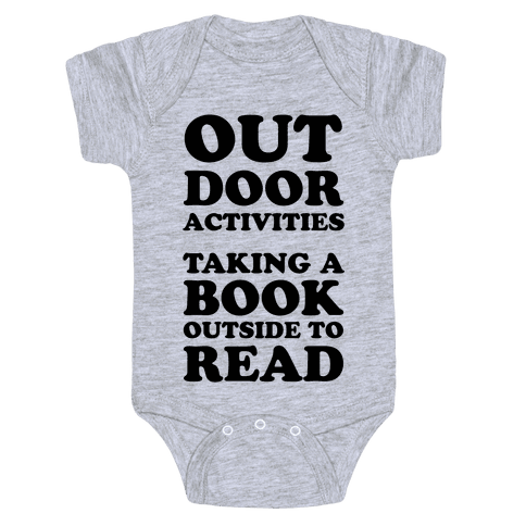 Outdoor Activities Taking A Book Outside To Read Baby Onesy