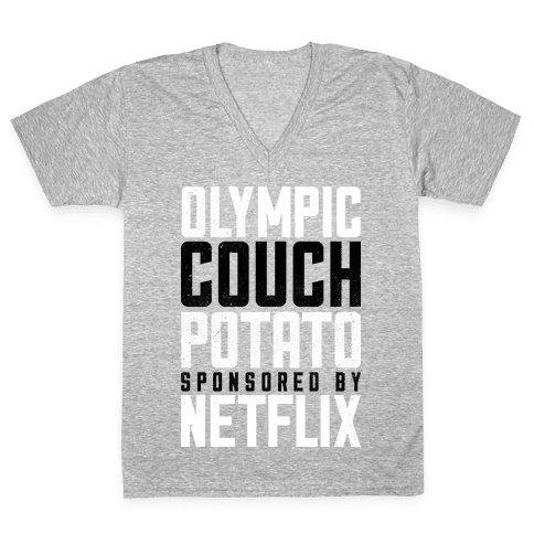 Olympic Couch Potato V-Neck Tee Shirt