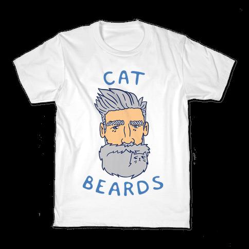 Grey Cat Beards Kids T-Shirt