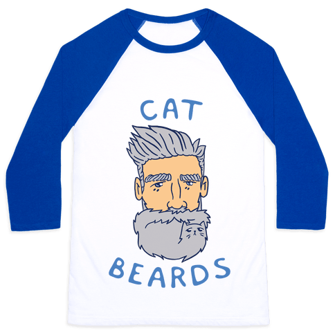 Grey Cat Beards Baseball Tee