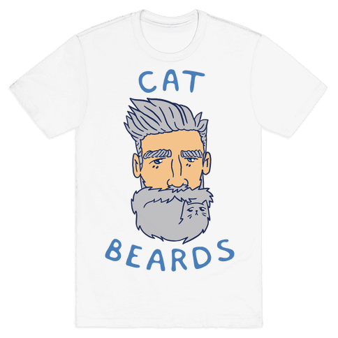 Grey Cat Beards Mens T-Shirt