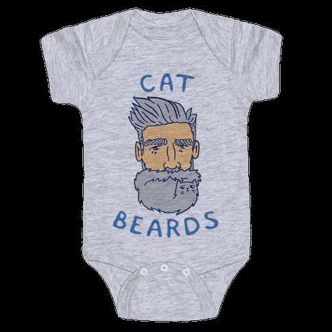 Grey Cat Beards Baby Onesy