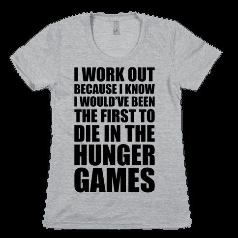 Hunger Games Workout Womens T-Shirt