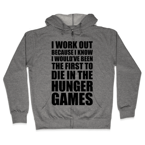 Hunger Games Workout Zip Hoodie